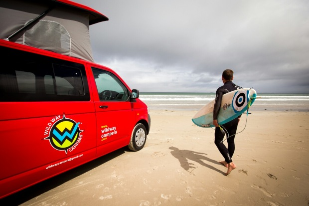 cd128324d1 VW Campervan Hire on Ireland s Wild Atlantic Way. Surfing and Camping in  Kerry Ireland